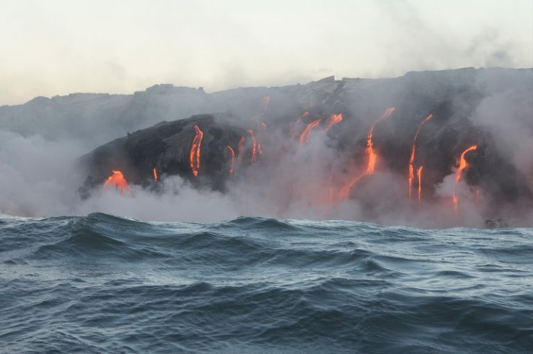 Lava Flow from Tour Boat