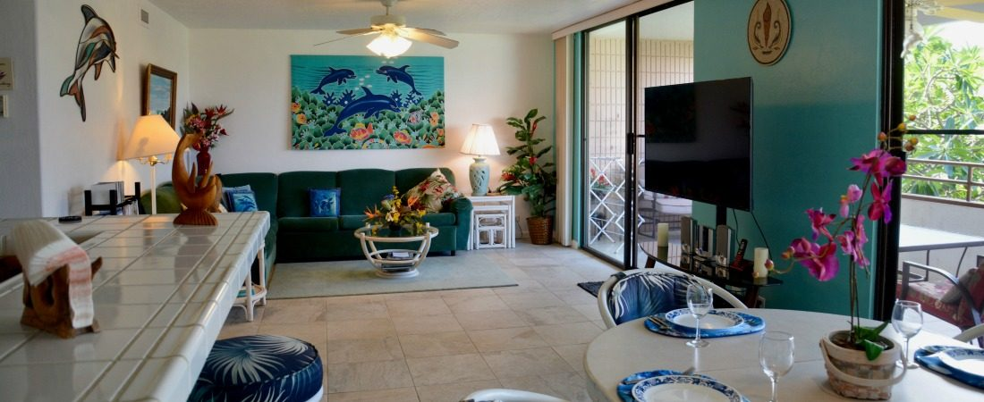Vacation Rental Great Room Kona